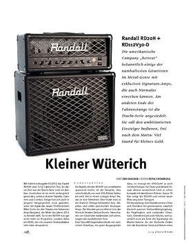 Randall RD20H + RD112V30-D, Röhren-Top & Box