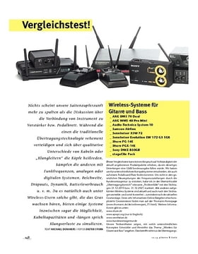 Vergleichstest! Wireless-Systeme für Gitarre und Bass