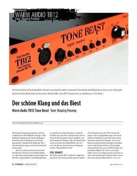 Warm Audio TB12 Tone Beast - Tone Shaping Preamp