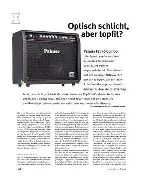 Palmer Fat 50 Combo, Röhren-Combo