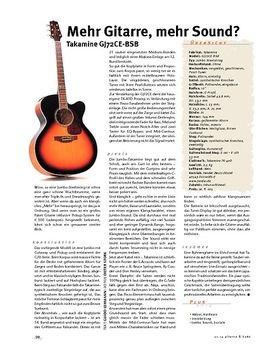 Takamine GJ72CE-BSB, Jumbo-A-Gitarre