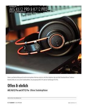 AKG K612 Pro und K712 Pro - Offene Studiokopfhörer