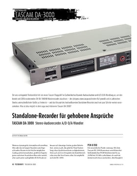 TASCAM DA-3000 - Stereo-Audiorecorder A/D-D/A-Wandler