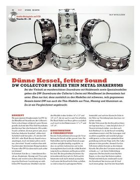 DW Collector's Series Thin Metal Snaredrums