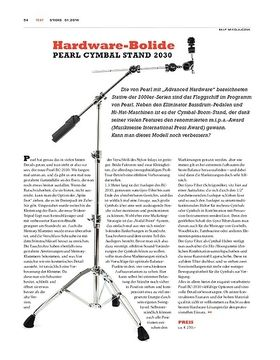 Pearl Cymbal Stand 2030 - Verfeinerter Klassiker