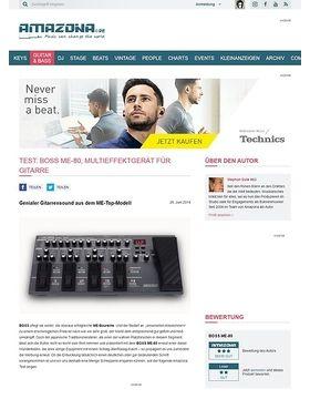 Test: Boss ME-80, Multieffektgerät für Gitarre