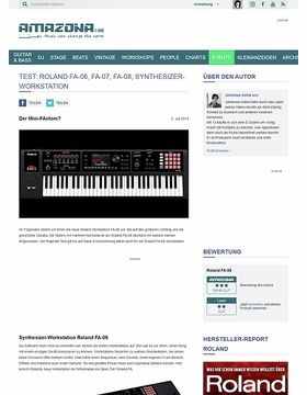 Test: Roland FA-06, FA-08, Workstation