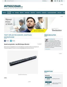 Test: DPA 4017B d:dicate, Shotgun Microphone