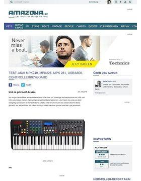 Test: AKAI MPK249, MPK225, MPK 261, USB/MIDI-Controllerkeyboard