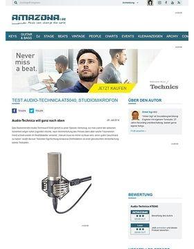 Test Audio-Technica AT5040, Studiomikrofon