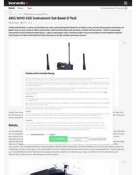 AKG WMS 420 Instrument Set