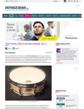 Test: Pearl Free Floating Snares, Teil 3