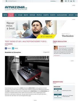 Test: Boss GT-001, Multieffektgerät für E-Gitarre