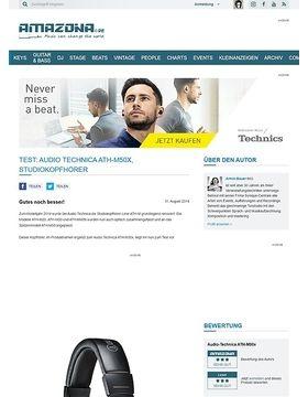 Test: Audio Technica ATH-M50x, Studiokopfhörer