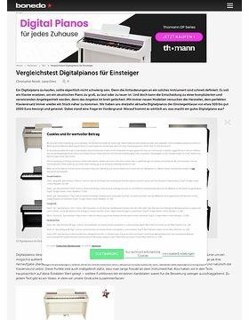 Testmarathon Digitalpianos für Einsteiger