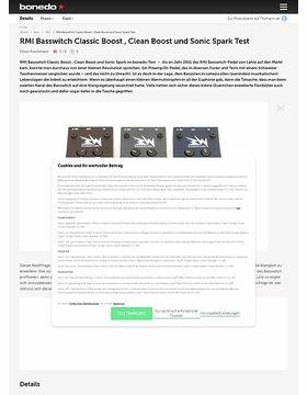 RMI Basswitch Classic Boost , Clean Boost und Sonic Spark