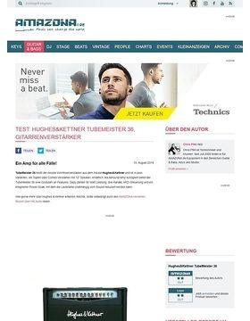 Test: Hughes&Kettner TubeMeister 36, Gitarrenverstärker