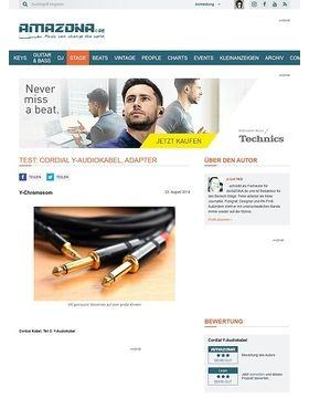 Test: Cordial Y-Audiokabel, Adapter