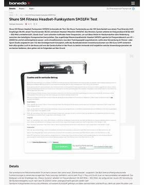 Shure SM Fitness Headset-Funksystem