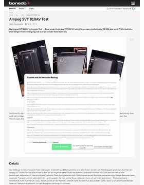 Ampeg SVT 810AV Test