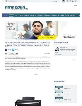 Vergleichstest: Digitalpianos Mittelklasse - Kawai CN34, Roland HP-504, Yamaha CLP-525