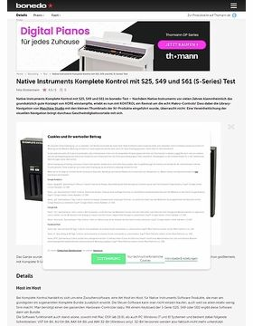Native Instruments Komplete Kontrol mit S25, S49 und S61