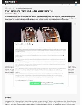 Pearl Sensitone Premium Beaded Brass Snare