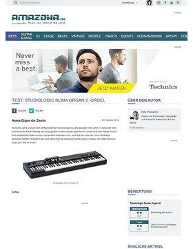 Test: Studiologic Numa Organ 2, Orgel