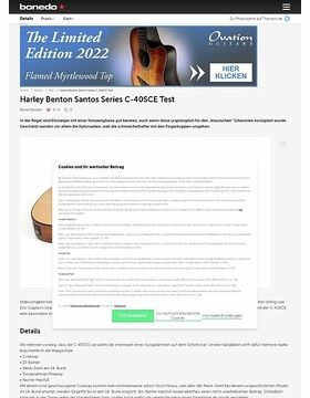Harley Benton Santos Series C-40SCE Test