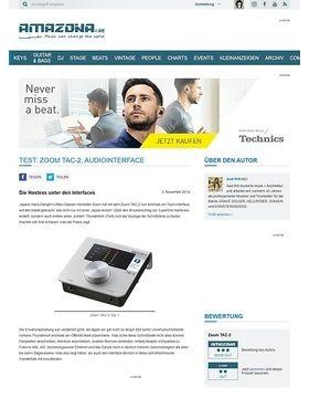 Test: Zoom TAC-2, Audiointerface