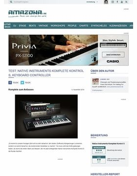 Test: Native Instruments Komplete Kontrol S, Keyboard Controller