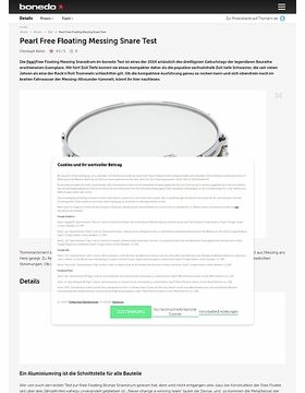 Pearl Free Floating Messing Snare