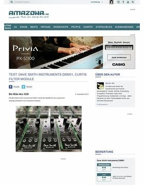 Test: Dave Smith Instruments DSM01, Curtis Filter Module