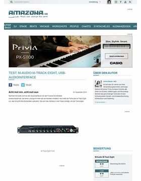 Test: M-Audio M-Track Eight, USB-Audiointerface