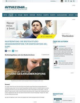 Special: Studio-Gesangsmikrofone Teil 1, Einsteiger bis 300,- Euro