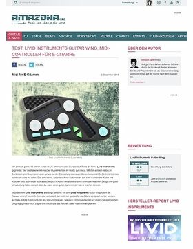 Test: Livid Instruments Guitar Wing, MIDI-Controller für E-Gitarre