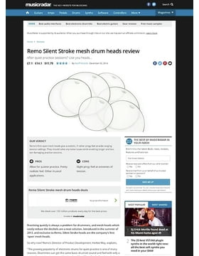 Remo Silent Stroke mesh drum heads
