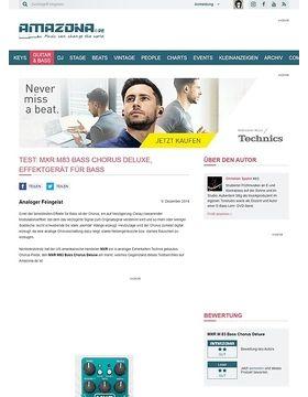 Test: MXR M83 Bass Chorus Deluxe, Effektgerät für Bass