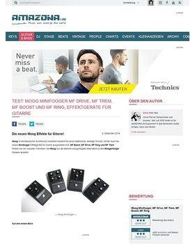 Test: Moog Minifooger MF Drive, MF Trem, MF Boost und MF Ring, Effektgeräte für Gitarre