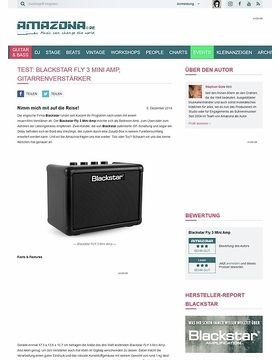 Test: Blackstar FLY 3 Mini Amp, Gitarrenverstärker