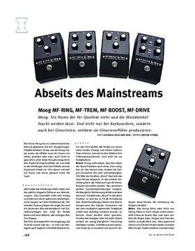 Moog MF-RING, MF-TREM, MF-BOOST, MF-DRIVE, FX-Pedals