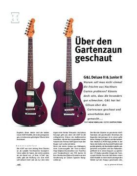 G&L Deluxe II & Junior II, E-Gitarren