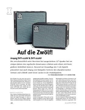 Ampeg SVT-112AV & SVT-212AV, Bass-Boxen