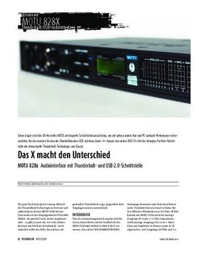 MOTU 828x - Audiointerface mit Thunderbolt- und USB-2.0-Schnittstelle