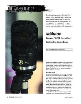 Neumann TLM 107 - Umschaltbares Großmembran-Kondensatormikrofon