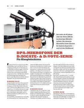 DPA-Mikrofone der D:Dicate- & D:Vote-Serie