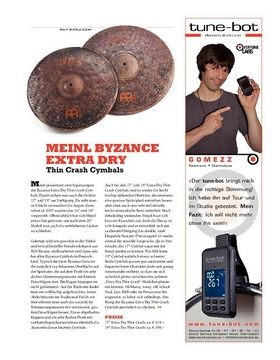 Meinl Byzance Extra Dry Thin Crash Cymbals