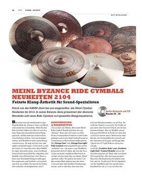 Meinl Byzance Ride-Cymbal-Neuheiten 2014