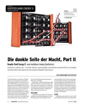Doepfer Dark Energy II - Semi-modularer Analog-Synthesizer