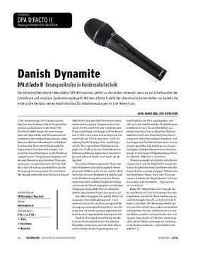 DPA d:facto II - Gesangsmikrofon in Kondensatortechnik
